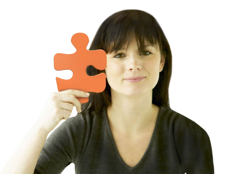 Lady holding large puzzle piece  - Maximize Human Capabilities - Occupational Therapy -Winnipeg - Manitoba